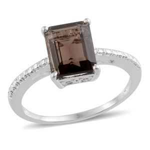 Jewelry - NEW Size 8 Smoky Quartz 925 Sterling Silver Ring